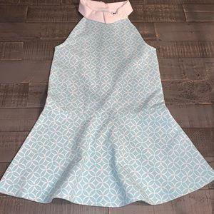 Janie & Jack Geo Ponte Halter Dress Size 5